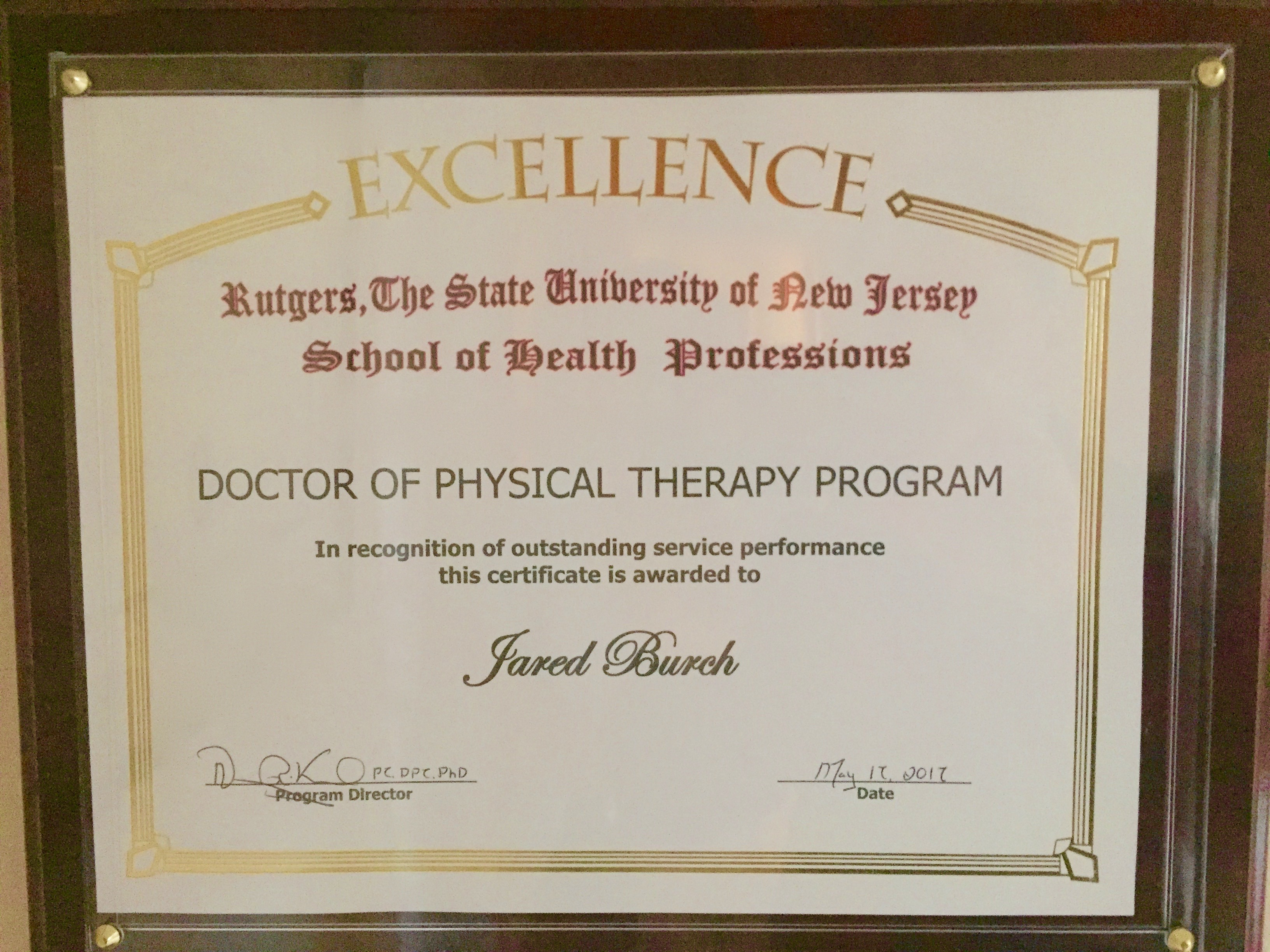 Doctor of physical therapy program - Service