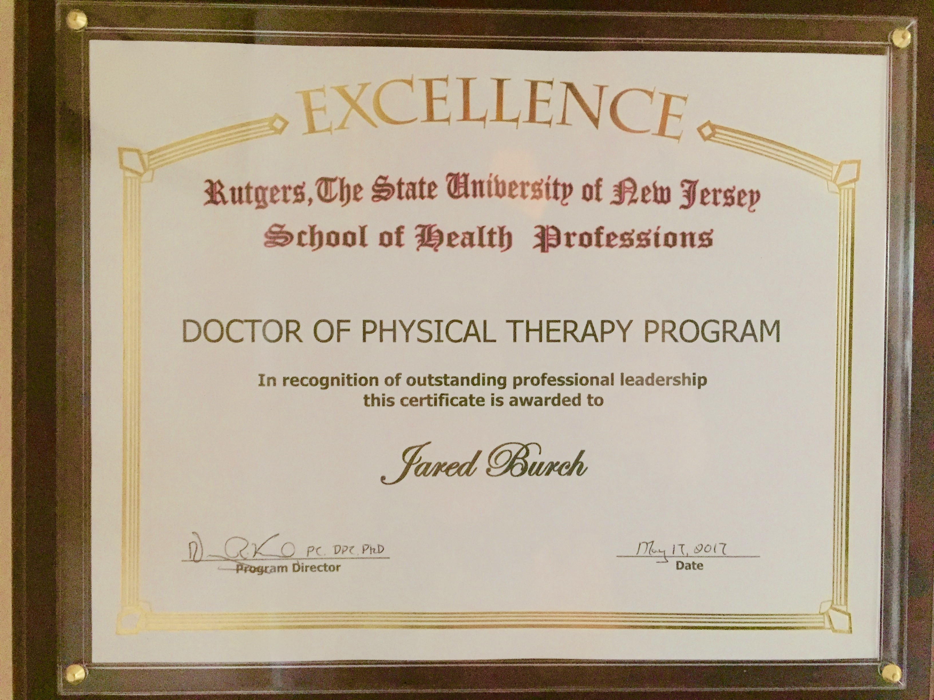 Doctor of physical therapy program - Professional Leadership